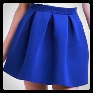 Dresses & Skirts - NWT Pleated Navy Blue Mini Skirt